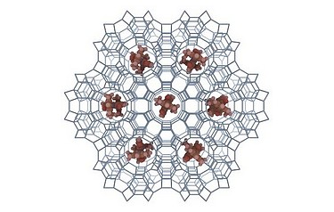 The geometrical constraints of the zeolite host structure allow for the formation of one-dimensional chains of highly uni-axially orientated molecules (image: MESA+)