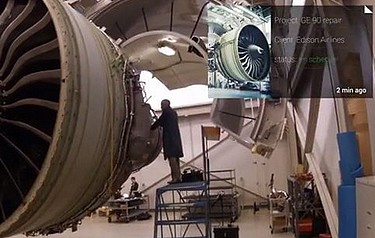ge shows how to assemble a jet engine with google glass