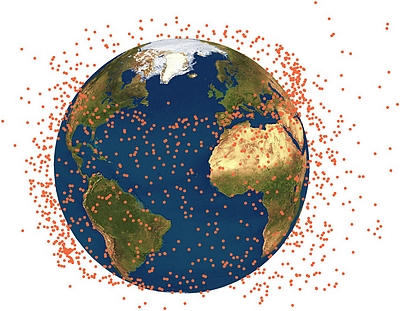 CiELO space debris cloud (courtesy of the researchers)