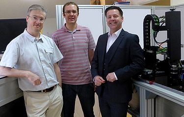 From left: Dr Andrew Hurrell, Dr Paul Morris and Gary Livingstone