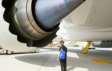 The GEnx is one of the world's largest and most powerful jet engines (image: GE/Adam Senatori)