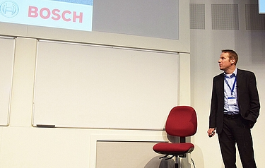 Robert Roelver at Graphene Week 2015 (photo: Anders Frick, Chalmers University of Technology)