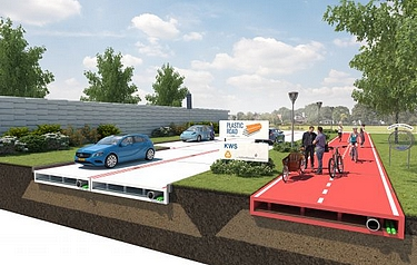 Artist's impression of PlasticRoad, courtesy of VolkerWessels