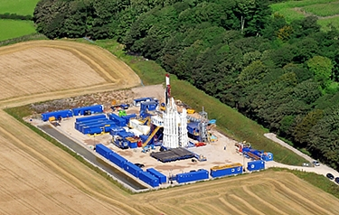 Aerial view of a Cuadrilla drilling site (photo courtesy of Cuadrilla)