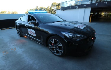 Fujitsu and KIA collaborate on prototype of artificial intelligence-enabled digital police car of the future (Credit: Fujitsu/ZDNet)
